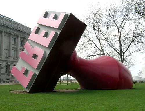 Claes Oldenburg - Free Stamp 01 by Peter Michel, via Flickr