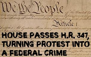 Vast Majority of U.S. House Votes to Criminalize Protest (H.R. 347)