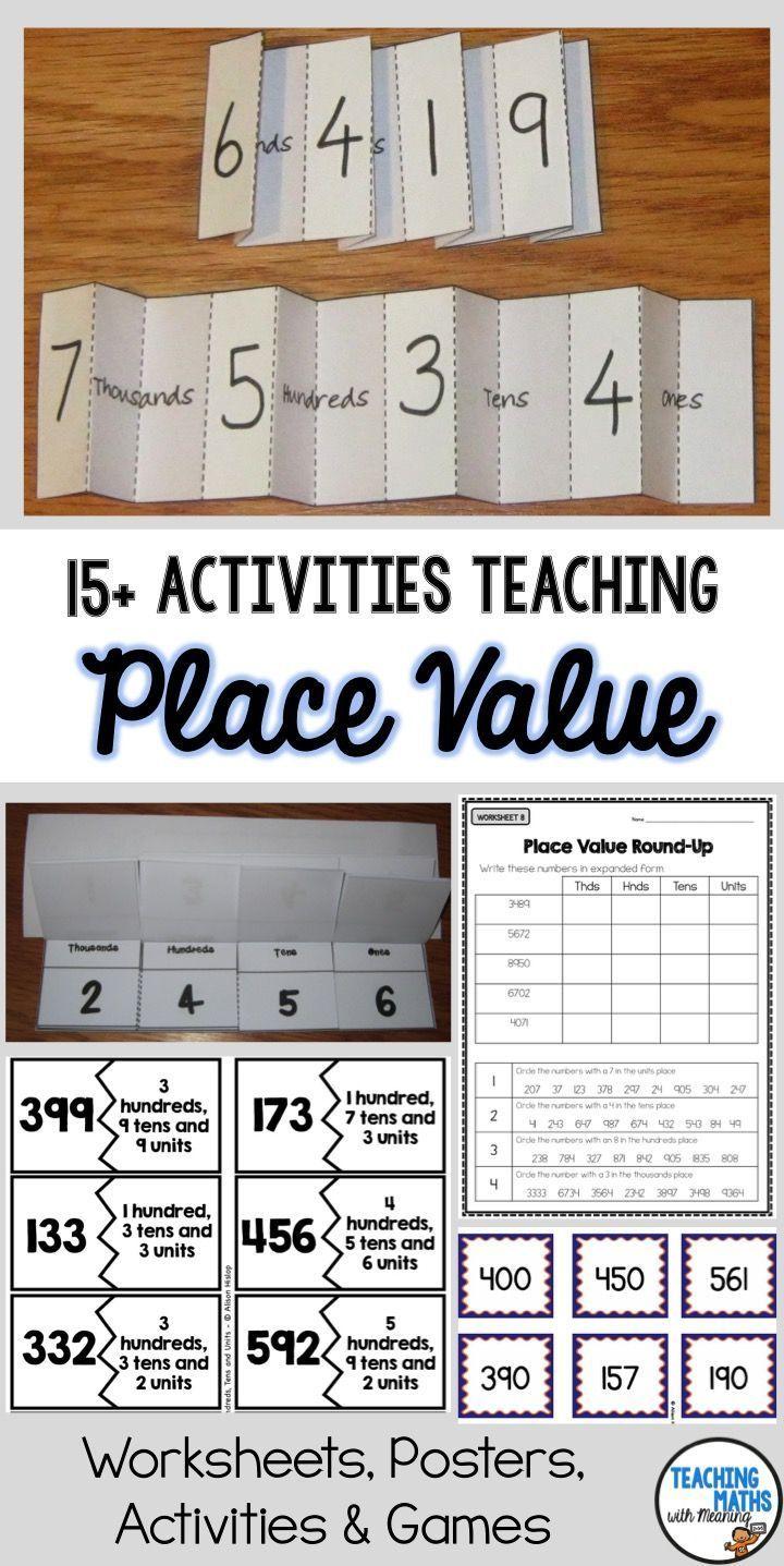Understanding Place Value With 15 Activities Place Values Teaching Place Values Place Value Games