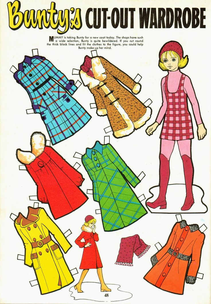 Buntys Annuals - 1973 - From Joanne Clothier *** Paper dolls for Pinterest friends, 1500 free paper dolls at Arielle Gabriel's International Paper Doll Society, writer The Goddess of Mercy & The Dept of Miracles, publisher QuanYin5