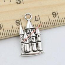20 шт. старинное серебро тон замок дом шармов для изготовления ювелирных изделий DIY ручной работы судов 22 x 12 мм B215(China (Mainland))