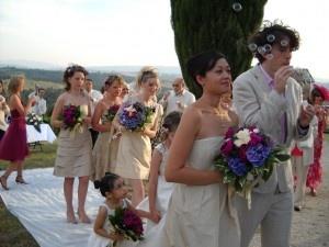 Wedding at Fattoria del Colle outside Villa Cenerentola