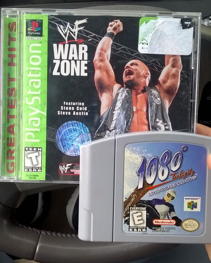 On instagram by __nerd__alert__ #playstation1 #microhobbit (o) http://ift.tt/2pPzRsq  Mondays pick up. WWF war zone and 1080 snowboarding. I use to have all the WWF games for the PS1 but because I was a dumb kid I sold them to Hollywood videos game crazy.  #n64 #nintendo64 #psone #ps1 #psx #video games #playstationone  #sony #nintendo #wwe #wwf #wwfwarzone #1080snowboarding #stonecold #stonecoldsteveaustin #playntrade