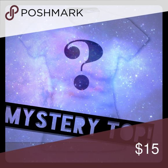 ✨Mystery Top in YOUR SIZE ❤️ That's right! A mystery top from my Poshmark closet, randomly picked my me (well, a random number generator)! Some items eligible are yet to be posted to Poshmark too! Some lucky ladies might even have two tops!  * final sale, have FUN! Tops