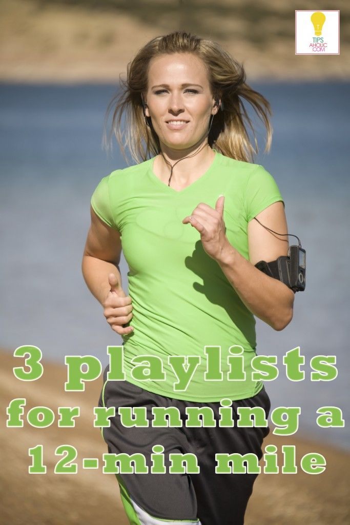 3 Playlists for Running a 12-minute Mile - Tipsaholic.com #running #workout #fitness