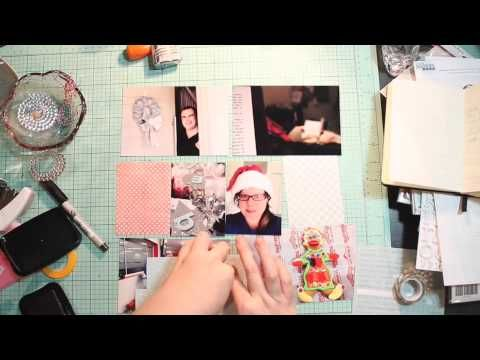 Christmas project life layouts and process video by DT Renae Finlayson, using Polly! Scrap Kits February 2014 Salted Caramel Icecream project life kit