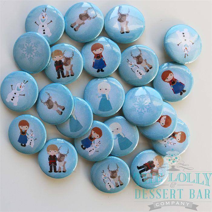 20 Badges Snow Princess metal back 25mm badges. | The Lolly & Dessert Bar Company | madeit.com.au