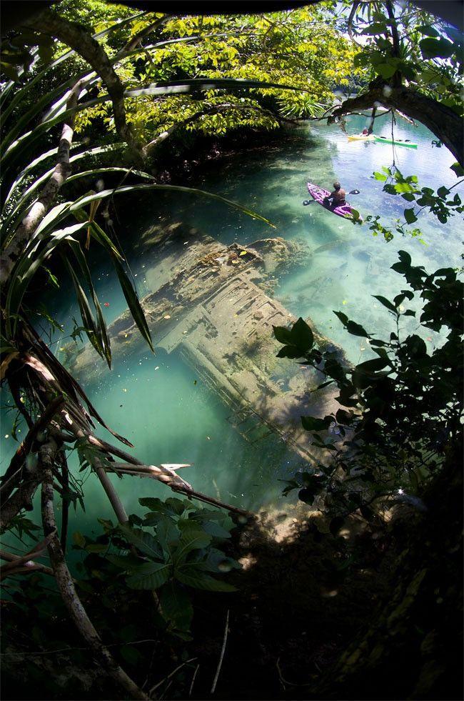Abandoned WWII Japanese Plane in Palau
