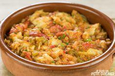 Comment préparer la morue à l'ajoarriero (bacalao al ajoarriero). Recette facile. Un plat typique espagnol de morue, ail, poivron et tomate. Délicieux !