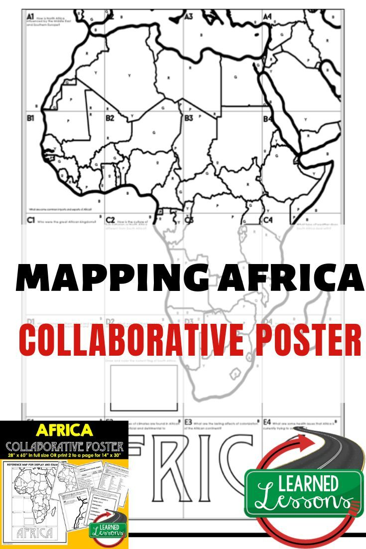 Africa Collaborative Poster, Mapping Africa Activity, Africa