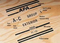 in which some journalist explains identifying plywood grades without mentioning the grade stamp... #plywood #construction #DIY