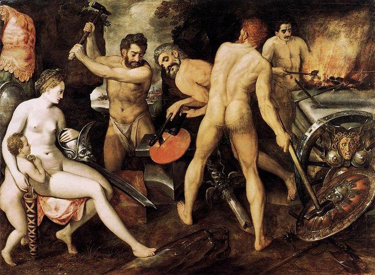 Aphrodite and Eros at Hephaestus' Forge