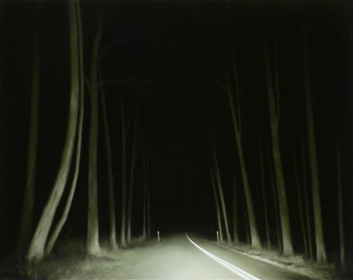 Tony Lloyd - highway 13, oil on linen, 2006