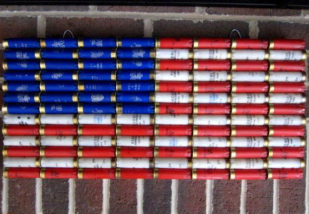 Shotgun Shell American Flag 22 x 10.5 Patriotic by ReadyAimCraft, $53.00