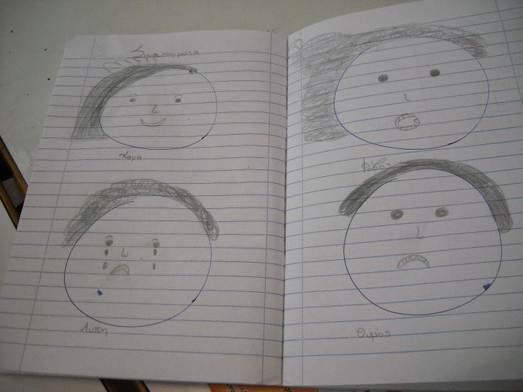 emotions-συναισθήματα-Γλώσσα Β' τάξη