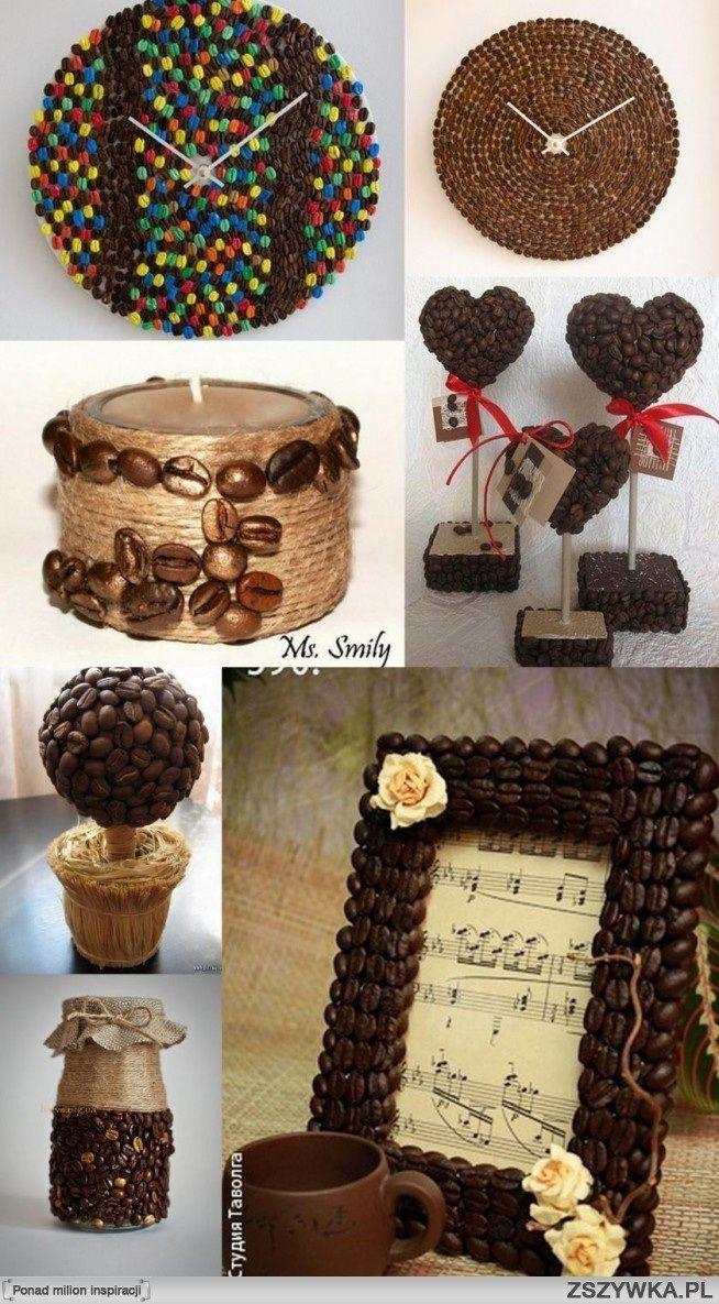 Ideas para accesorios de decoración con granos de café caducados