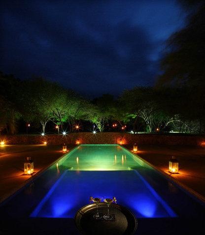 Inground Pools At Night
