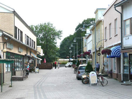The town center.