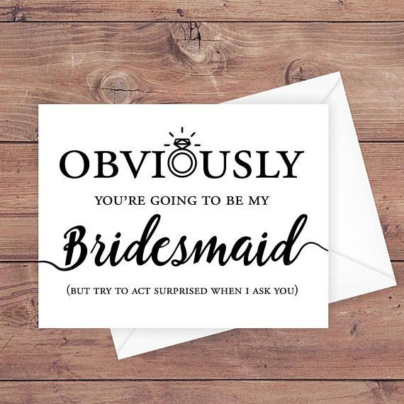 Obviously Youre Going To Be my BridesMAN Funny Will You Be My BridesMAN Card