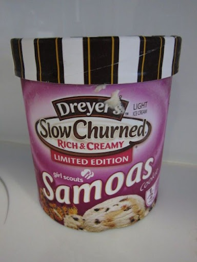 Dreyer's Girl Scout Ice Cream - Thin Mint & Samoas | chomping grounds