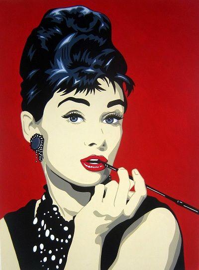 443 best pop art images on pinterest posters acrylics - Cuadros audrey hepburn ...