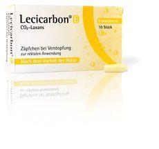 Pflichtangaben Lecicarbon® Zäpfchen bei Verstopfung für Erwachsene, Kinder und Säuglinge