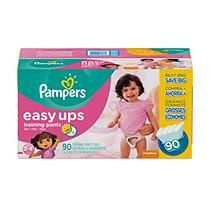 Pampers Easy Ups, Girls, Size 5, 3T-4T (30-40 lbs.), 90 ct.