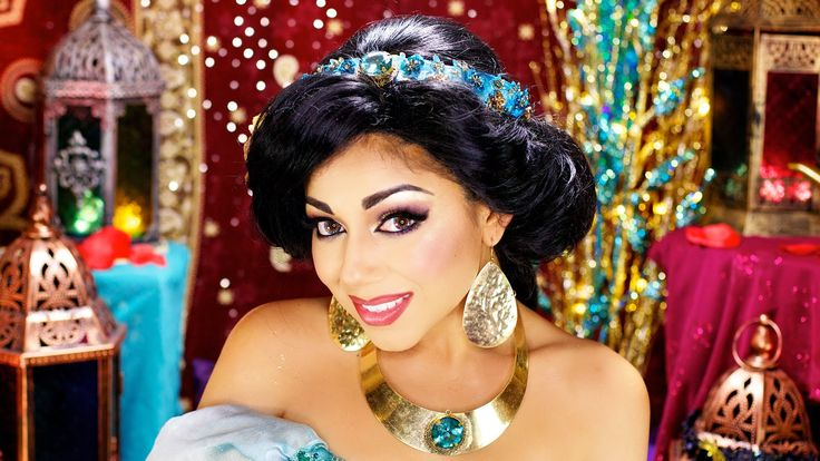Princess Jasmine Makeup Tutorial! Although I could never look this good as a Jasmine (being a Caucasian blonde), it's still fun to learn about this tutorial. You would believe she was the real thing at Disneyland!