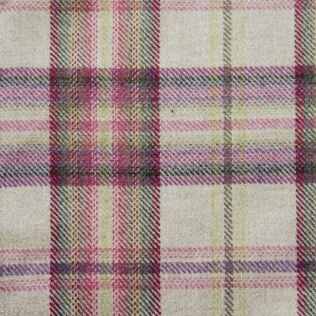 Beetroot colourway plaid in the Nairna fabric from Voyage Decoration's Rapunzel collection