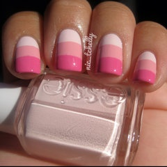 Love these nails! Essie - Fiji, OPI - Pink Friday, OPI - Shorts Story <3
