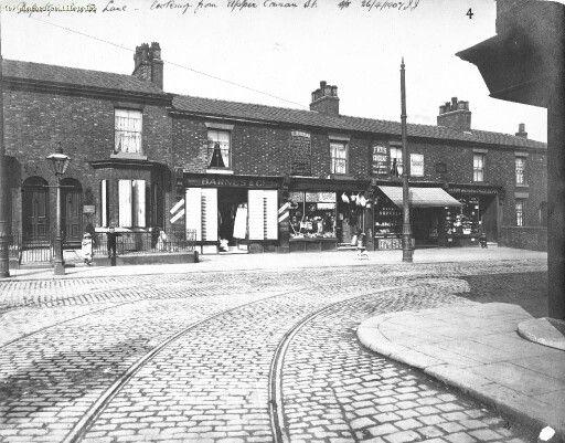Tram lines from Upper Conran St onto Moston Lane 1907