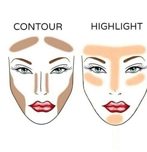 Imagen de makeup, contour, and highlights