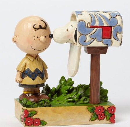 Jim Shore Charlie Brown & Snoopy Mailbox Figurine (Peanuts Collection)