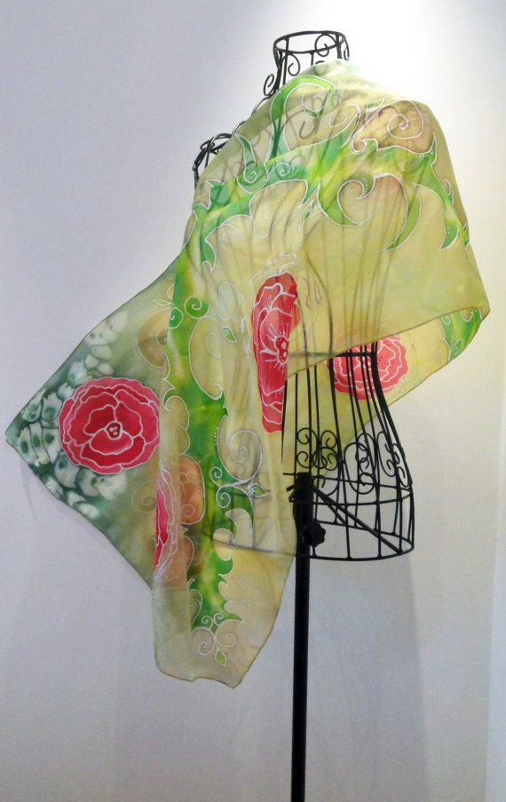 Modal Scarf - Poinsettia Red/Green by VIDA VIDA OMMrzBnhiB