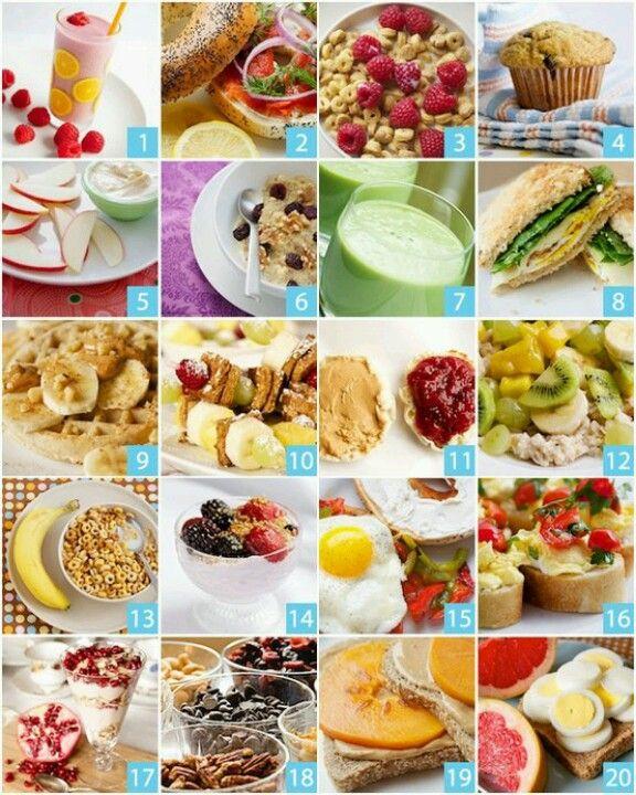 20 ideas de desayuno #desayuno #saludable #estudiantes