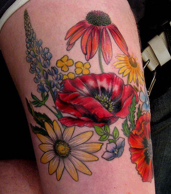 flower tattooWild Flower, Tattoo Ideas, Tattoo Pattern, Wildflowers Tattoo, Flowertattoo, Tattoo Design, Flower Tattoos, Floral Tattoo, Ink