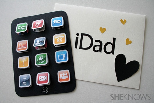 iDad Father's Day Card + envelope ... I have no time to make this right now, but maybe next year!