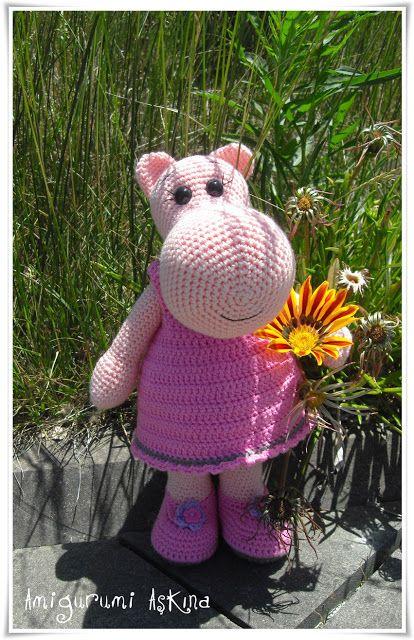 Amigurumi Aşkına Örgü Oyuncaklarım: Amigurumi Hippo-Örgü Oyuncak Su Aygırı