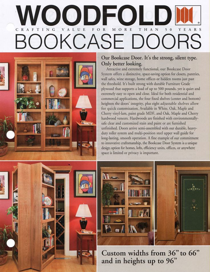 Hidden Passage Doorways | Forgotten Space Concept Doors | Woodfold Bookcase Doors