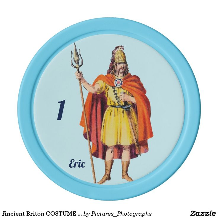 Ancient Briton COSTUME ~ Personalised ERIC ~ Poker Chips