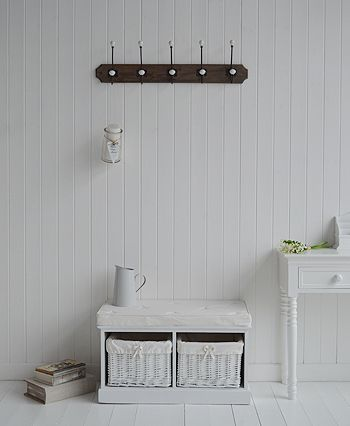 The White Lighthouse  White hall furniture and accessories for the home   Five bouble hooks coat rack for the hall. 83 best Hallway Furniture images on Pinterest   Hallway furniture