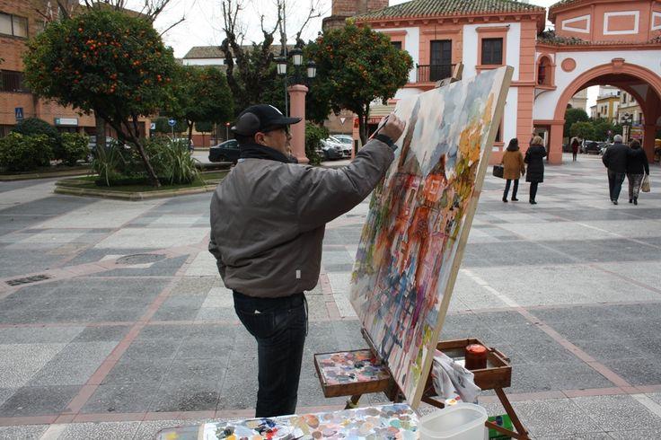 Un retrato del Palacio de los Niños, gana el certamen de pintura al aire libre