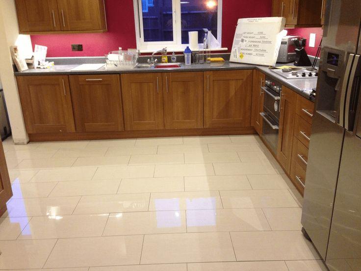 Ceramic or porcelain tile for kitchen floor