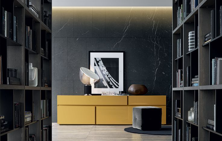 Free yellow sideboard by Carlo Colombo for Poliform.