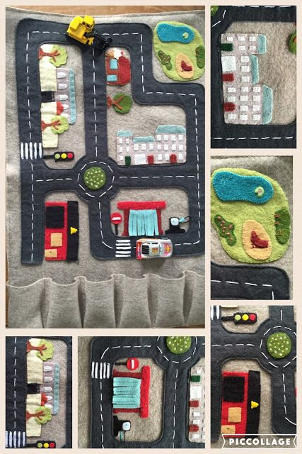 felt play mat kids DIY