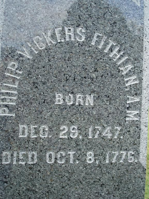 Rev Philip Vickers Fithian (17471776) Find A Grave
