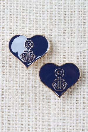 Heart Love Anchor Earrings $8.40