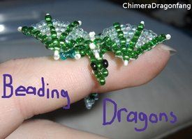 Pattern for Tiny Beaded Dragons - follow the linked picture