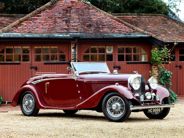 1934 Bentley Drophead Coupe Right Side View Bentley