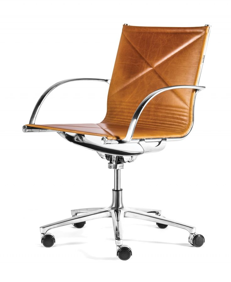 Engelbrecht joint chair with yellowstone leather